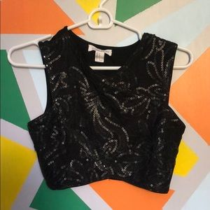 a cute top with sparkles